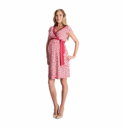 SOLD OUT Seraphine Florencia Petal Print Maternity Wrap Dress