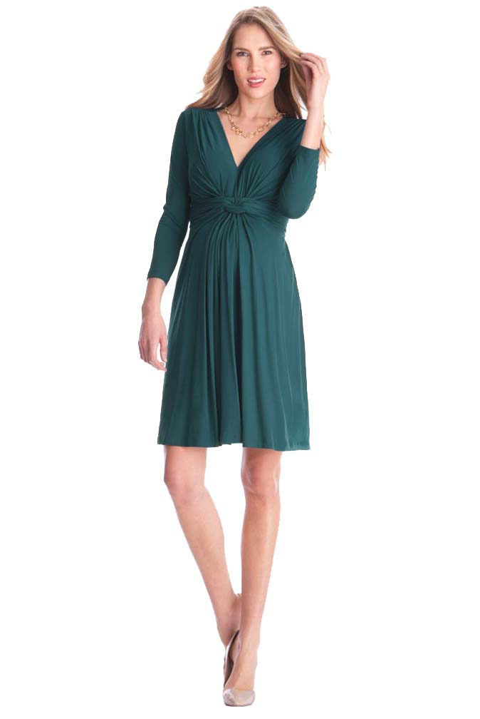 a00e17d5c0 Seraphine Jolene Knot Front Maternity And Nursing Dress - 3 4 Sleeve ...