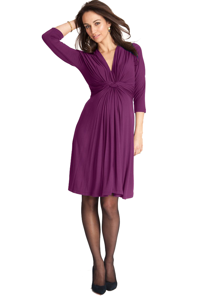 c4a09fd83ce44 Seraphine Jolene Knot Front Maternity And Nursing Dress - 3/4 Sleeve ...