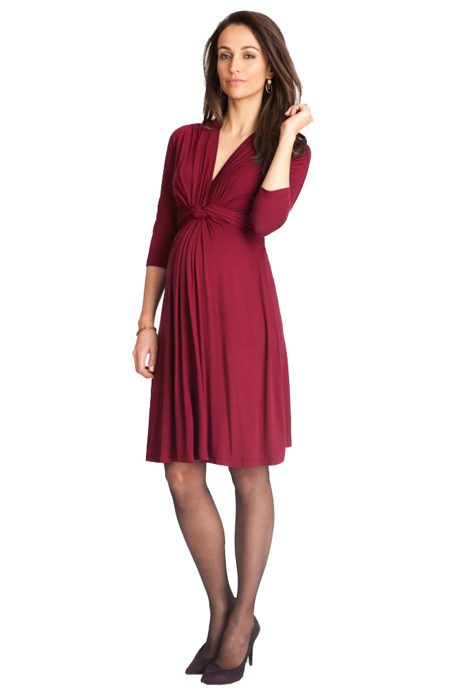 cc0d8fd384afc Seraphine Jolene Knot Front Maternity And Nursing Dress - 3/4 Sleeve | Maternity  Clothes on Sale at Due Maternity