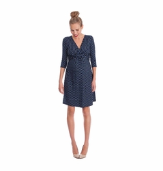 Seraphine Kelly Faux Wrap Maternity Nursing Dress