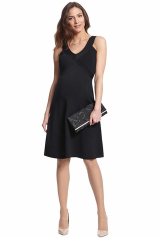 Seraphine Ola Little Black Maternity Dress