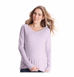 Seraphine Poppy Maternity Nursing Cotton Cashmere Sweater 6ebf4546e