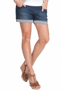 SOLD OUT Seraphine Sicily Underbump Maternity Denim Mini Shorts