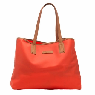 SOLD OUT Storksak Ariel Silicone Tote Diaper Bag - Coral