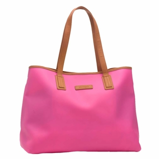 TEMPORA4RILY OUT OF STOCK Storksak Ariel Silicone Tote Diaper Bag - Hot Pink
