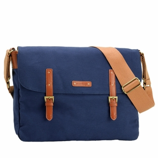 SOLD OUT Storksak Ashley Canvas Messenger Diaper Bag - Blue