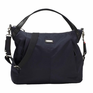 TEMPORARILY OUT OF STOCK Storksak Catherine Luxe Nylon Diaper Bag - Navy