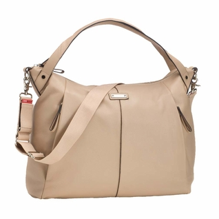 TEMPORARILY OUT OF STOCK Storksak Catherine Luxury Leather Diaper Bag - Almond