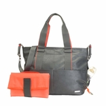 SOLD OUT Storksak Eden Vegan Leather Diaper Bag - Grey