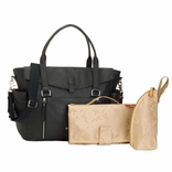 sold out Storksak Emma Luxury Leather Diaper Bag - Black