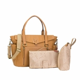 SOLD OUT Storksak Emma Luxury Leather Diaper Bag - Tan