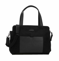 TEMPORARILY OUT OF STOCK Storksak Juliette Coated Canvas Tote Diaper Bag - Black