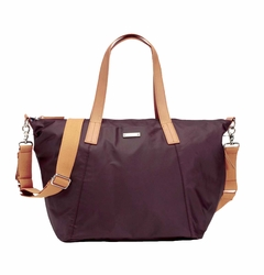 TEMPORARILY OUT OF STOCK Storksak Noa Coated Canvas Diaper Bag Set - Burgundy