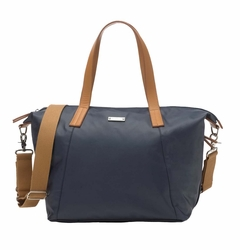 TEMPORARILY OUT OF STOCK Storksak Noa Coated Canvas Diaper Bag Set - Navy