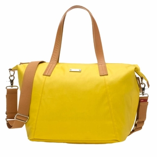 TEMPORARILY OUT OF STOCK Storksak Noa Coated Canvas Diaper Bag Set - Yellow