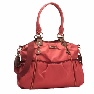 TEMPORARILY OUT OF STOCK Storksak Olivia Nylon Diaper Bag - Berry