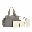 SOLD OUT Storksak Travel Collection Shoulder Diaper Bag Carryall - Grey