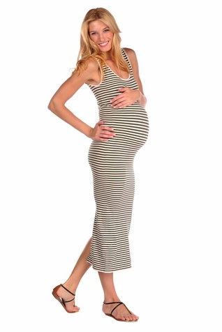 TEMPORARILY OUT OF STOCK Tees By Tina Micro Stripe Tank Maxi Dress
