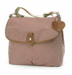 TEMPORARILY OUT OF STOCK Babymel Satchel Diaper Bag - Red Stripe