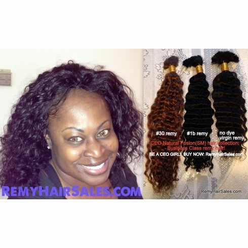 """CURLY REMY Hair -Buy Remi Human Hair Supplies 18"""""""