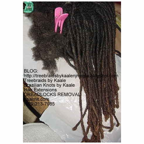 Dreadlocks Removal in NJ- Locs Take Down, 4-7""
