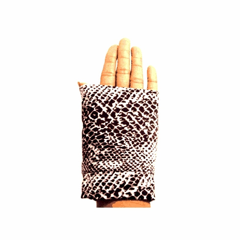 Fingerless Gloves- Stretch Fingerless Gloves, Mitts- Snake Skin
