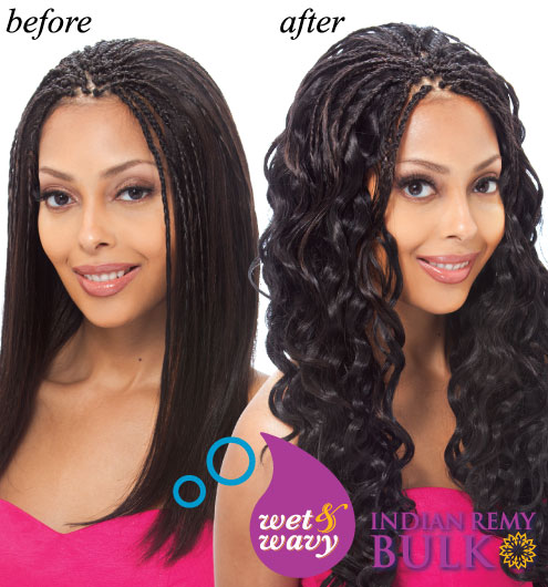 Janet Collection INDIAN REMI Wet \u0026 Wavy Human Hair Braid