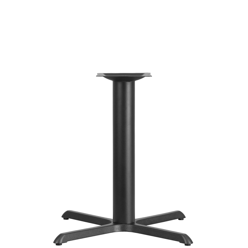 ERGONOMIC HOME 18'' Round Restaurant Table Base with 3'' Dia. Bar Height Column