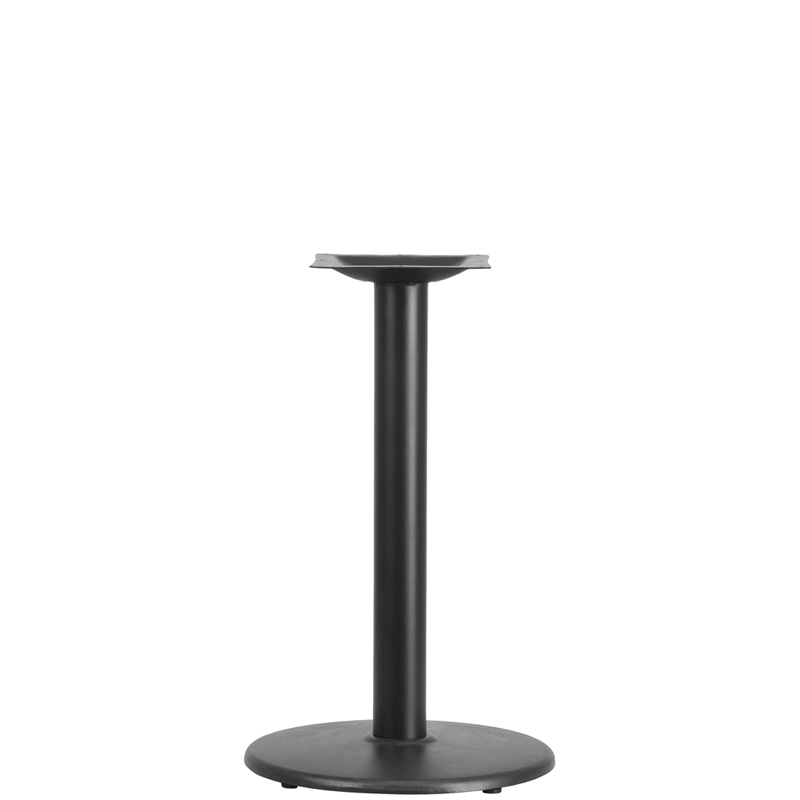 ERGONOMIC HOME 18'' Round Restaurant Table Base with 3'' Dia. Table Height Column