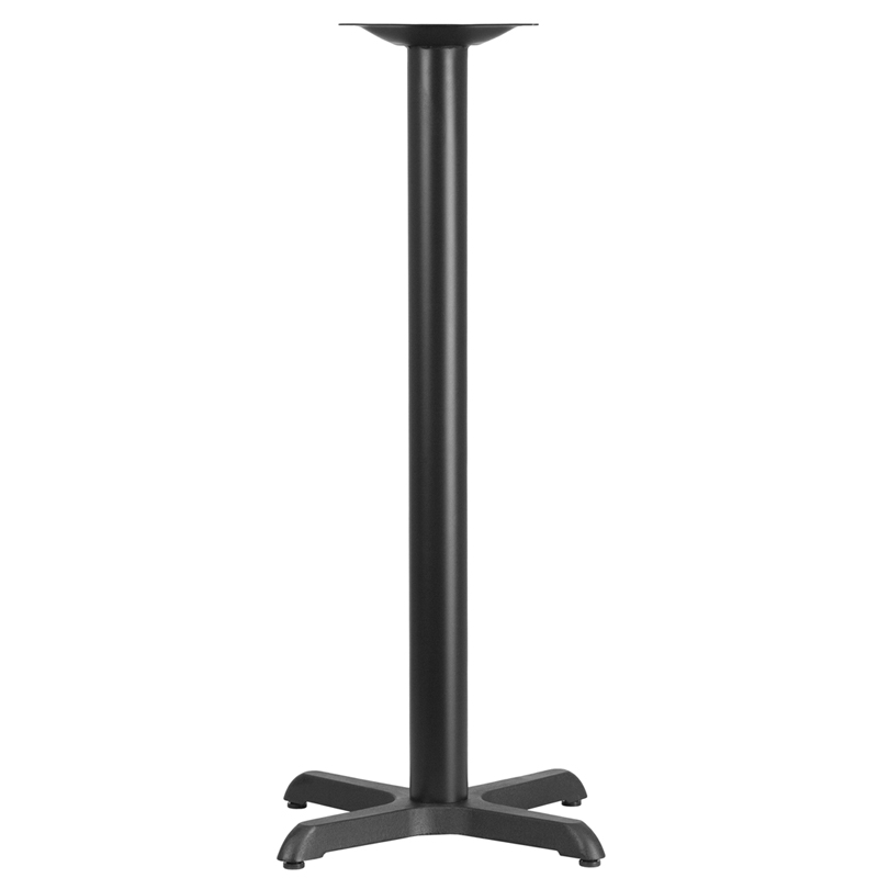 ERGONOMIC HOME 22'' x 22'' Restaurant Table X-Base with 3'' Dia. Bar Height Column