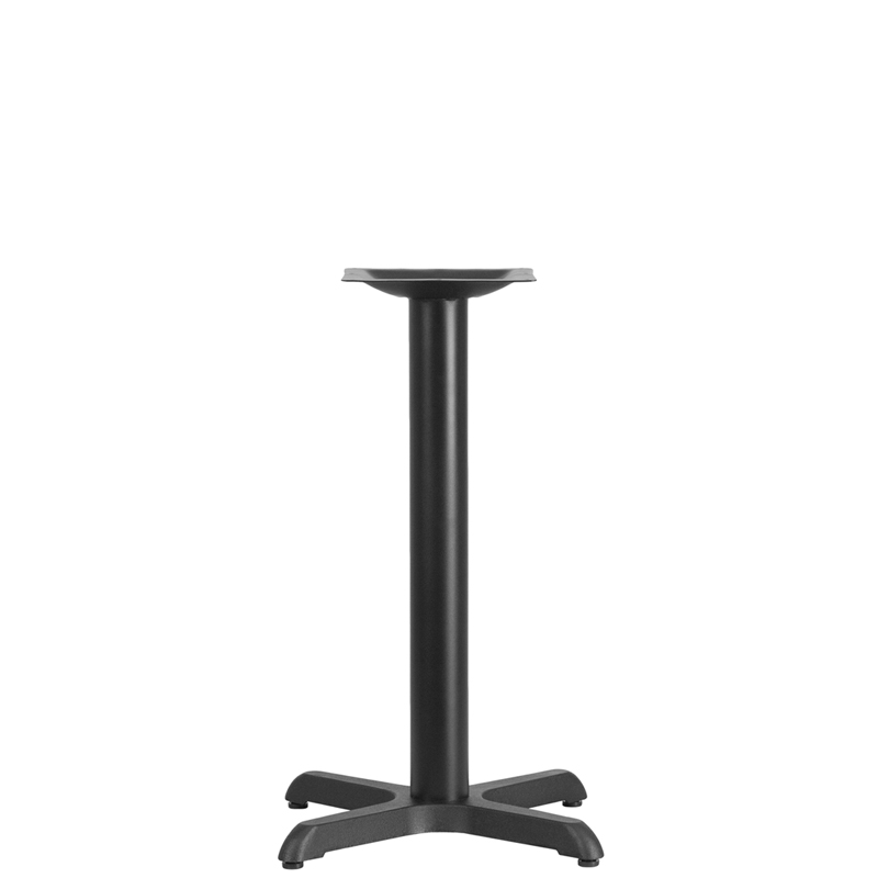 ERGONOMIC HOME 22'' x 22'' Restaurant Table X-Base with 3'' Dia. Table Height Column