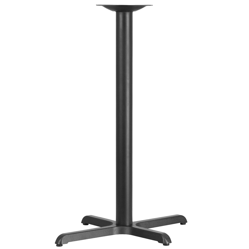 ERGONOMIC HOME 22'' x 30'' Restaurant Table X-Base with 3'' Dia. Bar Height Column