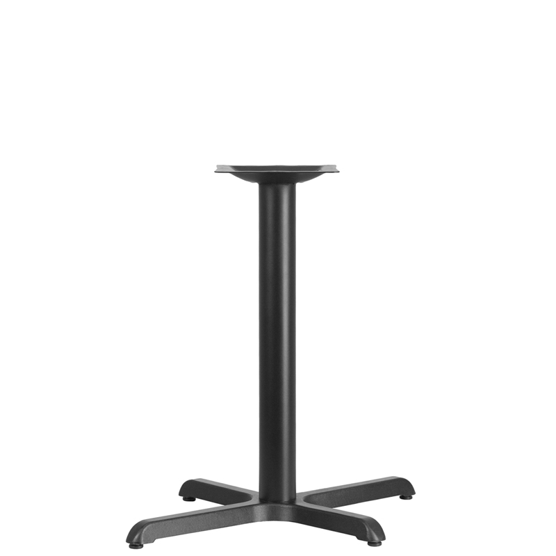 ERGONOMIC HOME 22'' x 30'' Restaurant Table X-Base with 3'' Dia. Table Height Column