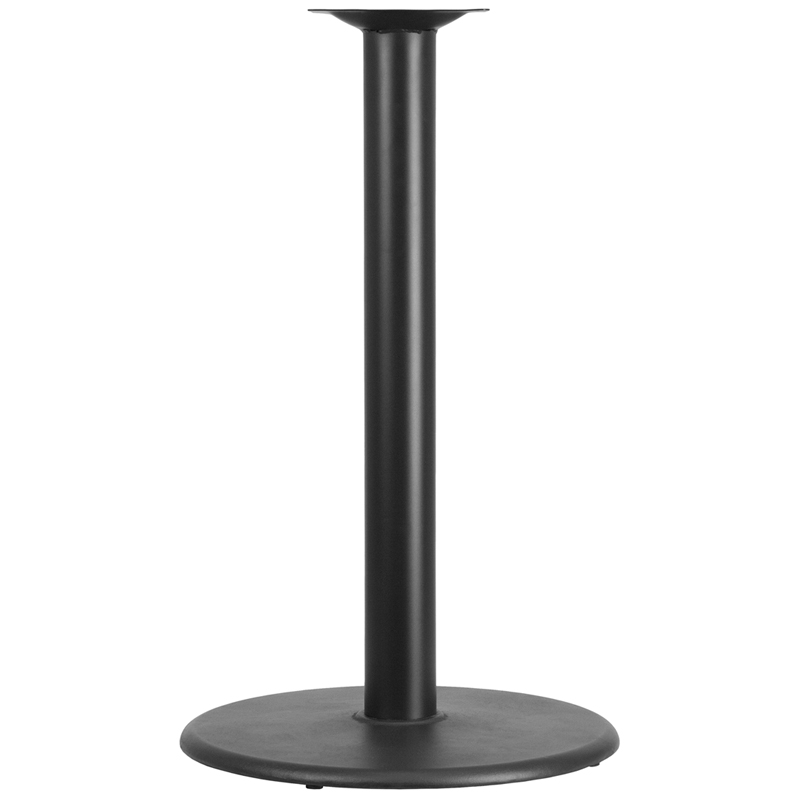 ERGONOMIC HOME 24'' Round Restaurant Table Base with 4'' Dia. Bar Height Column