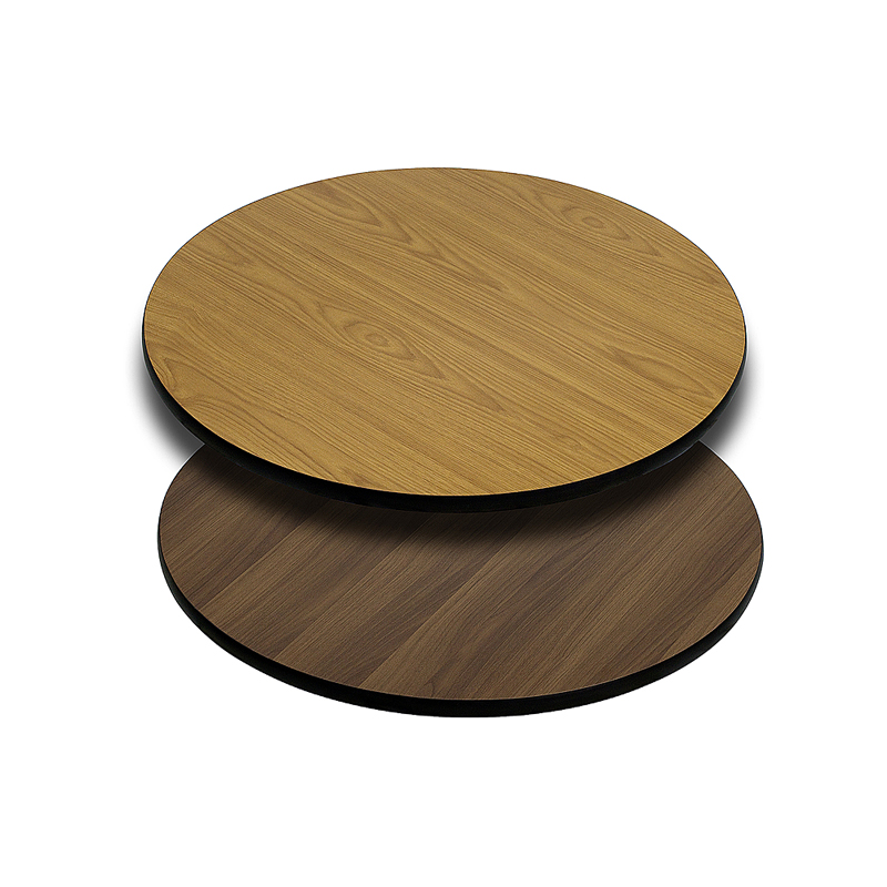 ERGONOMIC HOME 24'' Round Table Top with Natural or Walnut Reversible Laminate Top