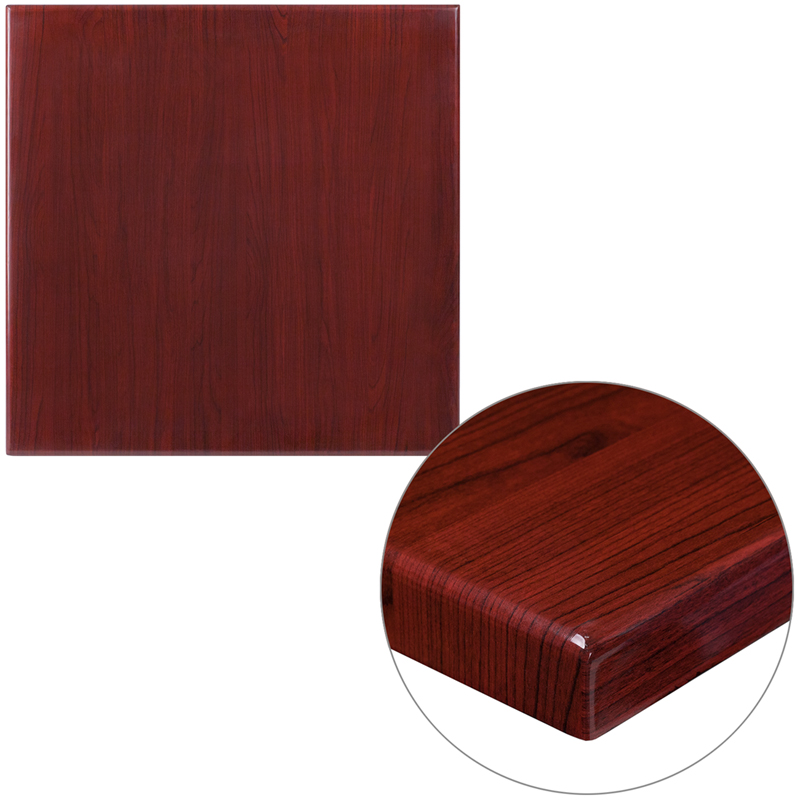 ERGONOMIC HOME 24'' Square Resin Mahogany Table Top