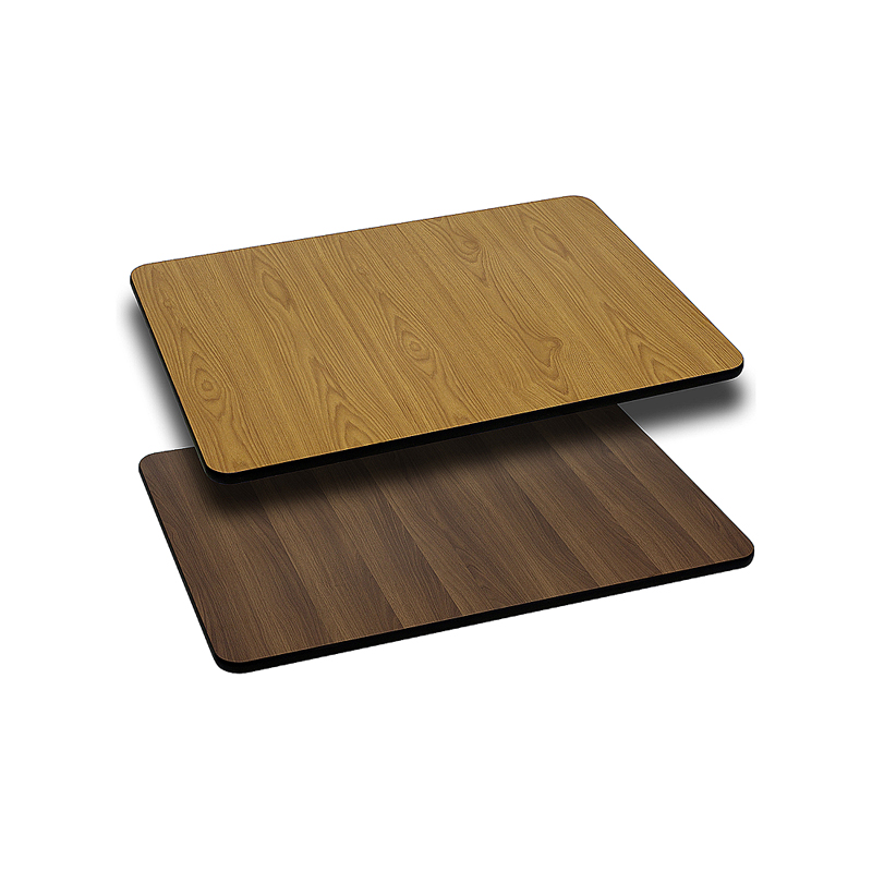 ERGONOMIC HOME 24'' x 30'' Rectangular Table Top with Natural or Walnut Reversible Laminate Top