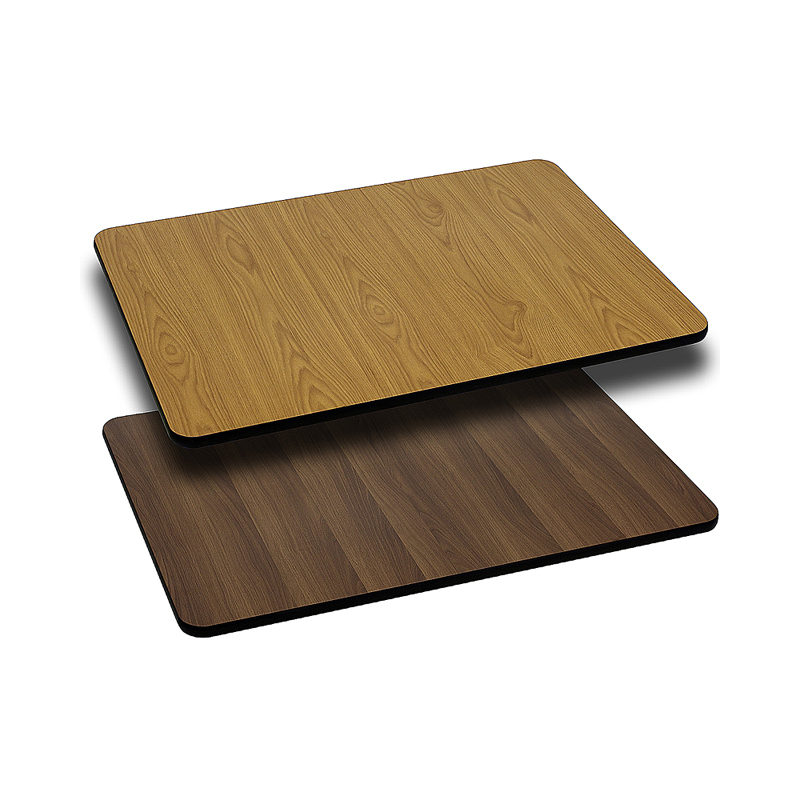 ERGONOMIC HOME 24'' x 42'' Rectangular Table Top with Natural or Walnut Reversible Laminate Top