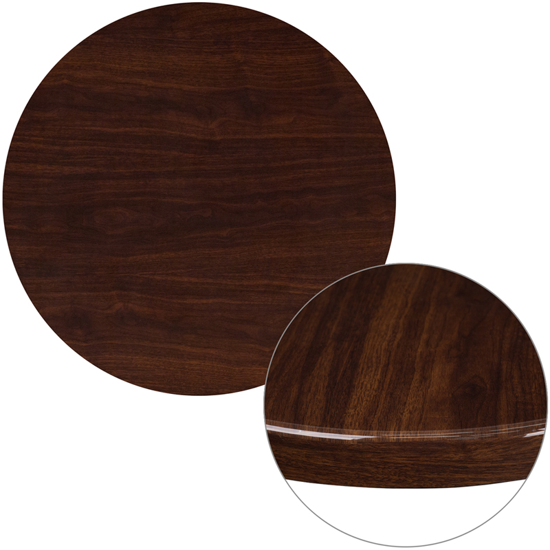 ERGONOMIC HOME 30'' Round Resin Walnut Table Top