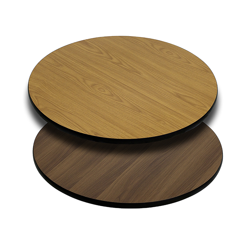 ERGONOMIC HOME 30'' Round Table Top with Natural or Walnut Reversible Laminate Top