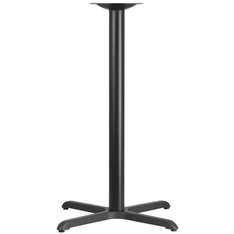 30'' x 30'' Restaurant Table X-Base with 3'' Dia. Bar Height Column