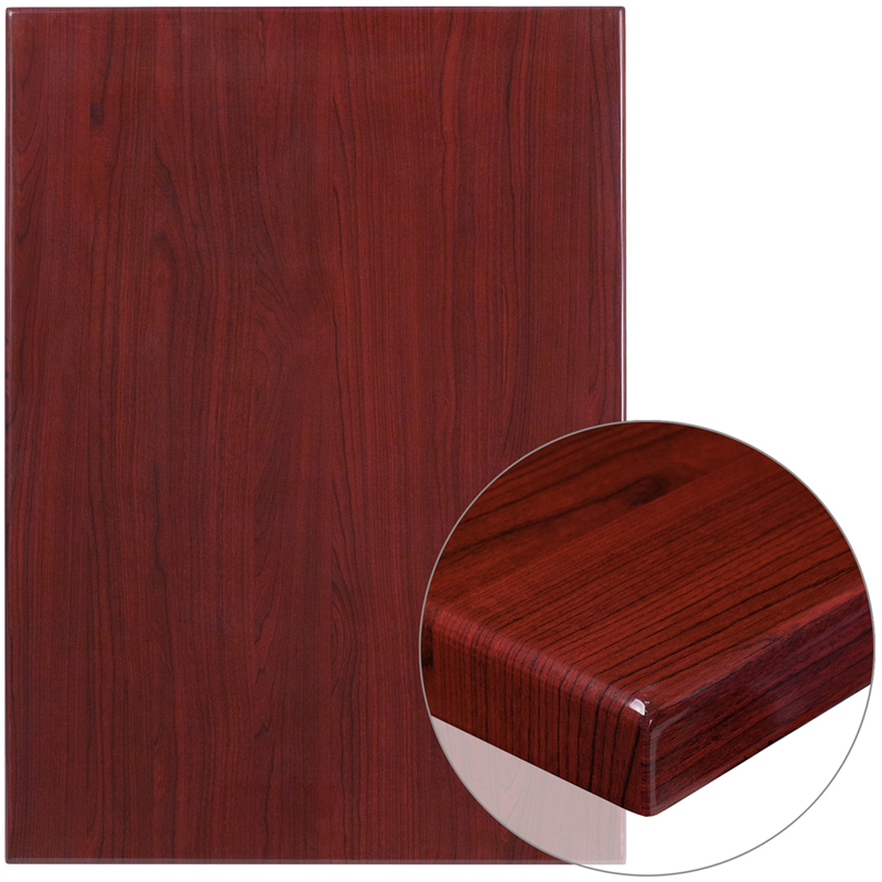 ERGONOMIC HOME 30'' x 42'' Rectangular Resin Mahogany Table Top