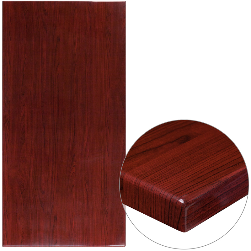 ERGONOMIC HOME 30'' x 60'' Rectangular Resin Mahogany Table Top