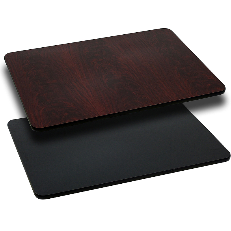 ERGONOMIC HOME 30'' x 60'' Rectangular Table Top with Black or Mahogany Reversible Laminate Top
