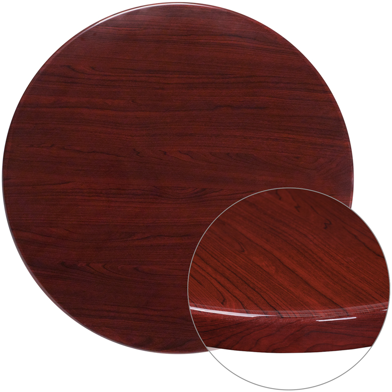 36'' Round Resin Mahogany Table Top