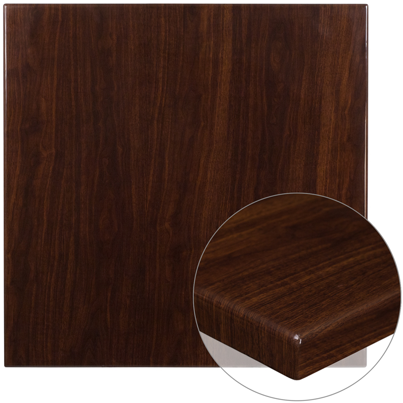 ERGONOMIC HOME 36'' Square Resin Walnut Table Top