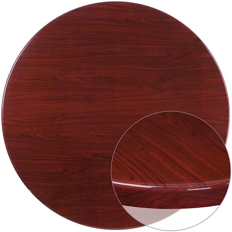 ERGONOMIC HOME 48'' Round Resin Mahogany Table Top