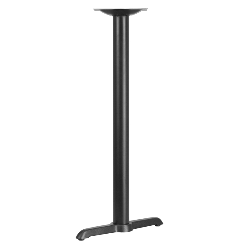 ERGONOMIC HOME 5'' x 22'' Restaurant Table T-Base with 3'' Dia. Bar Height Column