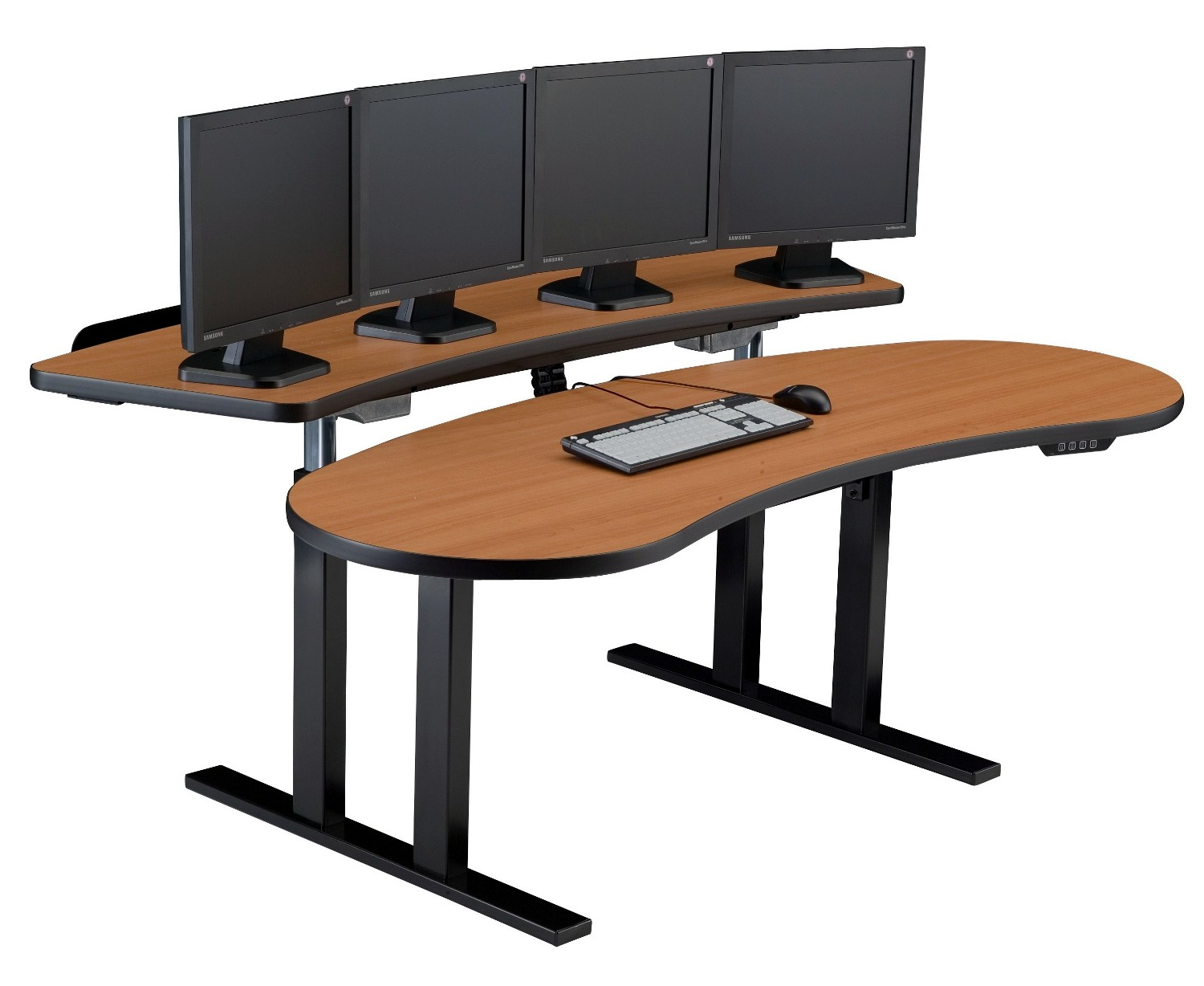 Pacs Sit Stand Adjule Computer Desk Curved Back Surface Pacslgt